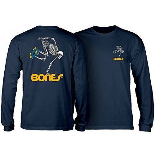 Powell-Peralta Skateboard Long Sleeve Shirt Skateboard Skeleton Navy Size XL