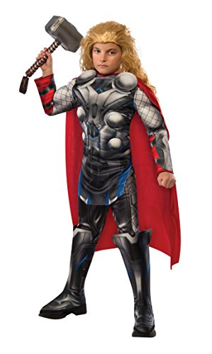 2016 Movie Superhero Costume (Rubie's Costume Avengers 2 Age of Ultron Child's Deluxe Thor Costume,)