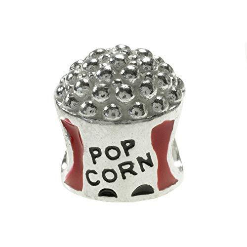 Charm Pop Corn Palomitas Plata de Ley compatible con Pandora: Amazon.es: Handmade