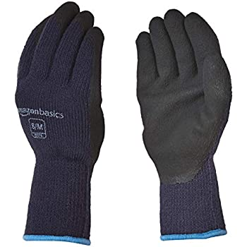 AmazonBasics Foam Latex Coated Acrylic Liner Winter Gloves with Touch Screen Capability - Size 11 / XXL