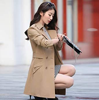 XuBa Long Trench Coat For Women 2018 New Casual Double Breasted Casaco Fashion Slim Feminino Autumn