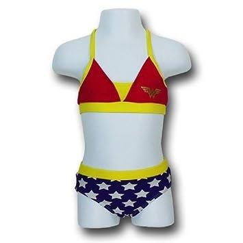da7d91ecf6dfe Amazon.com : Wonder Woman Little Girl's Toddler Bikini Swimsuit (320 ...