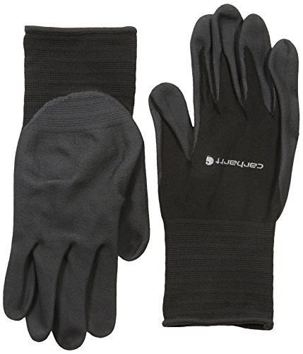 Carhartt Men's All Purpose Micro Foam Nitrile Dipped Glove, Black, Large