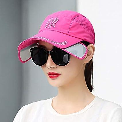 LIUXINDA-ZZM Sombrero de Verano Marea Femenina Gorra de béisbol Salvaje  Visera Femenina Gorra de Moda Femenina Sol Sombrero Solar Sombrero Femenino e060ee73113