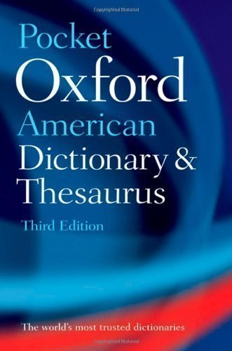Pocket Oxford American Dictionary & Thesaurus 3rd (third) Edition published by OUP USA (2010) (American Pocket Thesaurus)