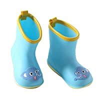 Caiuet Children Rain Boots Baby Infant 1-6 Years Old Water Rubber Shoes Rain Boots