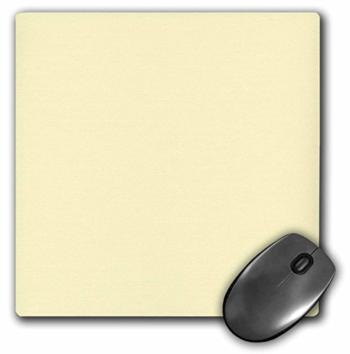 3dRose Creamy Yellow, Off-White, Light Pastel Cream, Lemon Chiffon, Plain Simple Solid Color Mouse Pad (mp_159882_1)