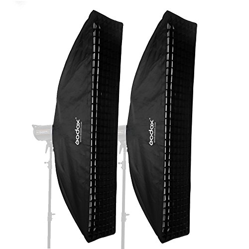 Godox 35x160cm 14''x63'' Strip Beehive Honeycomb Grid Softbox Bowens Mount for Studio Flash (2pcs) by Godox