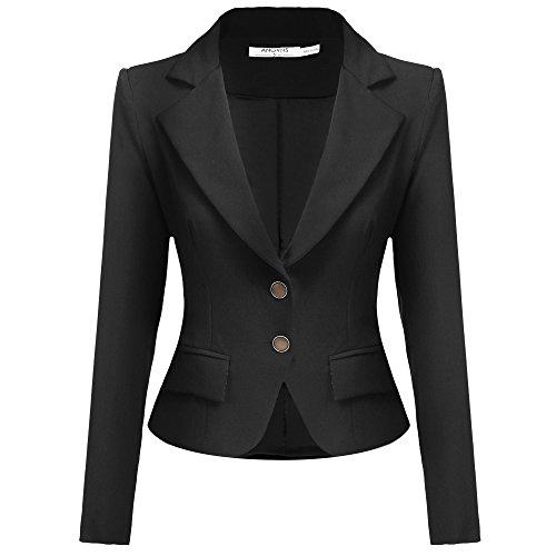 ANGVNS Womens Elegant Collar Outwear