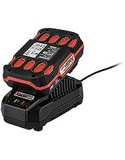 Parkside Batteri Pap 20 A1+ laddare PLG20 A1 •Kraftfullt 2 Ah litiumjonbatteri med 3-stegs alla verktyg i Parkside 20 V Team Power Tool Series levereras med en brittisk kontakt