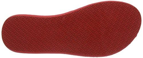 Tommy Goma De Rojo Red Red Para 8r Mujer Vestir Sandalias Hilfiger 255 Mona RwqrFR