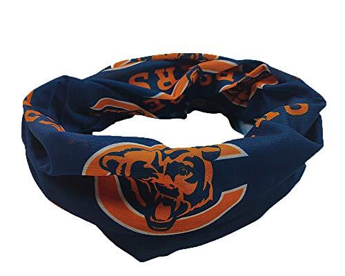 Gloral HIF Chicago Bears Magic Headband Sports Headwear Elastic Face Mask Bandana Scarf UV Resistence Head Wrap - Cycling, Fishing, Running, Hiking, Camping