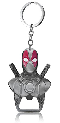 Pewter Pendant Keychain - REINDEAR Marvel Comics Movie Deadpool Logo Metal Opener Pendant Keychain US Seller (Pewter)
