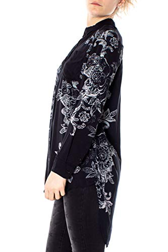 19swcw32 Lunga Camicia Manica Amandine Donna Cam Desigual Nero TqYaFzwx