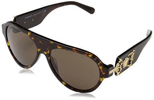 Versace  Men's VE4323 Havana/Brown - Versace Sunglasses Style
