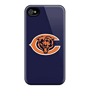 Iphone 5/5s Hard Back With Bumper Silicone Gel Tpu Case Cover Chicago Bears