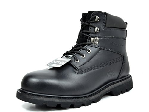 arctiv8 Men's Titan-S-03 Black Full-Grain Leather Steel Toe Work Boots - 10.5 M US