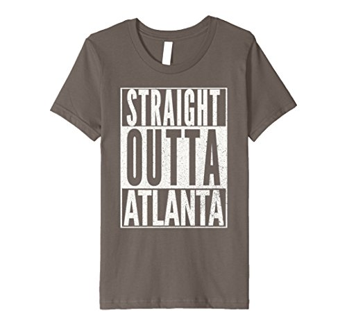 Kids PREMIUM Straight Outta Atlanta Georgia Fun Love Home T-Shirt 4 Asphalt