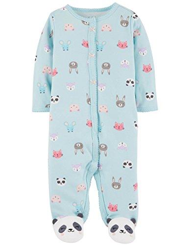 Carter's Baby Girls' Footie Sleep N Play (9 Months, Mint Panda) (Embroidered Interlock)