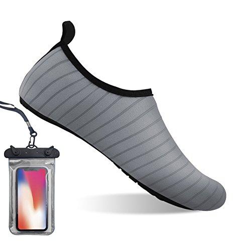 Bopika for Sports Shoes Water Shoes Women Barefoot Grey Men Kids Yoga Dry Quick Aqua Socks nWvwvxr
