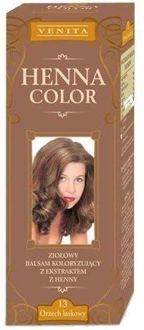 Henna Color 13 Avellana Bálsamo Capilar Tinte Para Cabello Efecto De Color Tinte De Pelo Natural Henne Eco