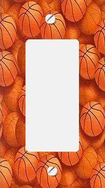 Basketballs GFI Rocker Decorative Switchplate (Basketball Switchplate)