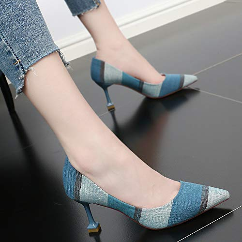 Small Refreshing Heel High And Fashion KPHY Sexy Shoes Summer Shallow Matching Fine Color Women'S Mouth 8Cm gules Cat Pointy EXwwqY