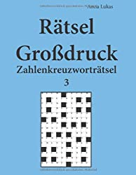 Rätsel Großdruck Zahlenkreuzworträtsel 3
