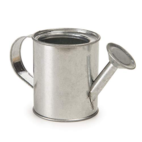 Darice 6302 Miniature Metal, 2.25 inches Watering Can, Silver
