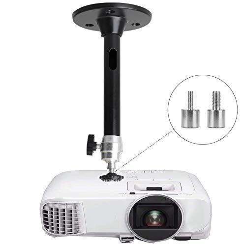 Mini Ceiling Wall Projector Mount - for QKK, DR.J Upgrade, DBPOWER, Anker, AAXA Technologies, Artlii, LoongSon, APEMAN and Most Other Mini Projector (175mm, Black)