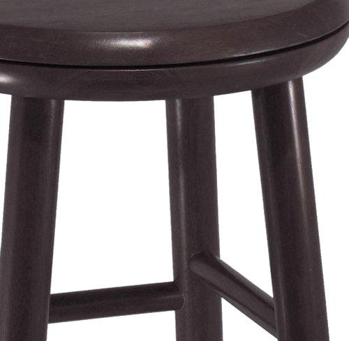 Winsome Wood 24 Inch Swivel Bar Stools Dark Espresso