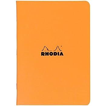 Rhodia Staplebound Orange Lined Notebook 8 1/4 X 11 ¾