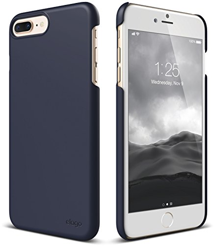 (elago iPhone 8 Plus/iPhone 7 Plus Case [Slim Fit 2][Jean Indigo] - [Light][Minimalistic][True Fit])