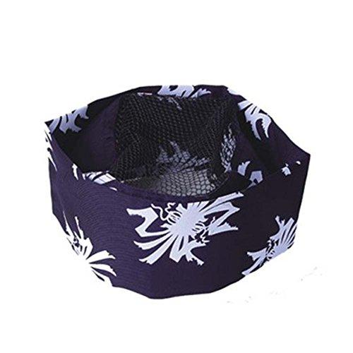 Japanese Style Sushi Bar Unisex Mesh Top Chef Hat Kitchen Uniform Cap Cooks Hat, 18 by FANCY PUMPKIN