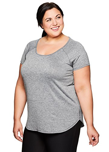 Capri Peasant Top - RBX Active Women's Plus Yoga T-Shirt Combo Charcoal 2X