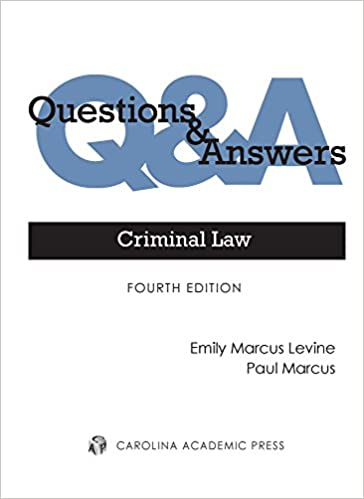 Amazon com: Criminal Law: Multiple-choice and Short-answer Questions