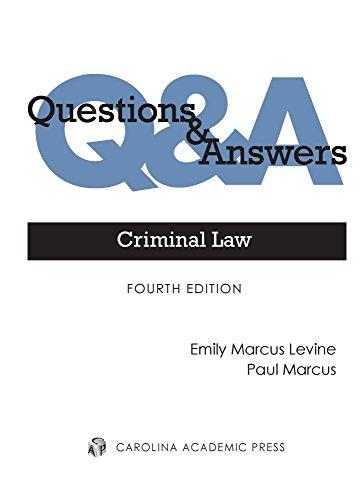 Pdf Law Criminal Law: Multiple-choice and Short-answer Questions and Answers (Questions & Answers)