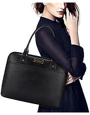 Laptop Tote Bag,EDODAY 15.6 Inch Computer Bag Women Shoulder Laptop Bags Case for Work (B-Black)