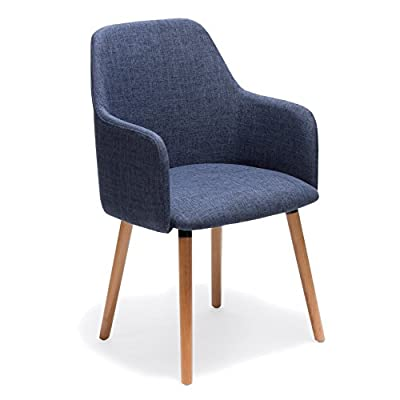 Porthos Home Sarlo Dining Chair, Blue - VERSATILE design Weight capacity: 265 lbs Seat Height:17.72 - kitchen-dining-room-furniture, kitchen-dining-room, kitchen-dining-room-chairs - 415dGs6 DqL. SS400  -