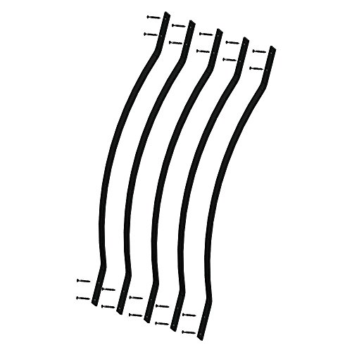 32.25-inch Aluminum Bow Facemount Baluster Black Smooth- 5 Pack