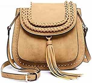 8693fa81e6 Bags handbag women famouss ladies bags fringed tassel Crossbody bags Saddle  designer weave Messenger Bags Chic