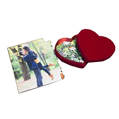 130 Piece Customized Jigsaw Puzzle with Heart Shaped Velvet Box - Add Your Picture - Olympic Costumes Ideas