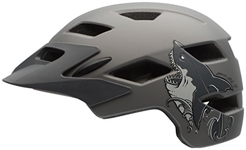 Bell Sidetrack Youth Bike Helmet - Kid's Matte Titanium Shark by Bell