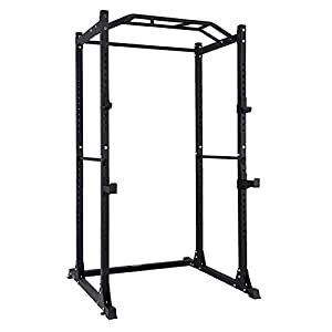 AMGYM Power Cage Rack Workout Station Home Gym Weightlifting Bodybuilding Strength Training 1200 LB Capacity
