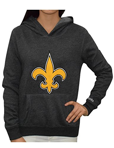 Pink Victoria's Secret Womens NEW ORLEANS SAINTS Athletic Hoodie M Dark Grey
