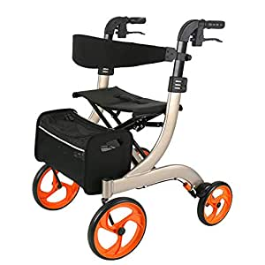 OLDHF Andador para Adultos Carro De Compras De Aluminio con ...
