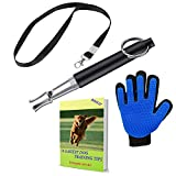 BOZLIZ Dog Whistle Silent to Stop Barking - Control Dog in Silence - Ultrasonic Patrol Sound Repeller- [Free Dog Lanydard Strap]- [Free Bonus Dog Glooming Glove]- [Free Bonus Ebook Dog Training Tips]