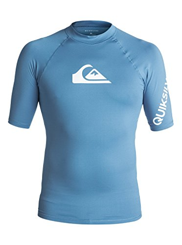 S/s Rash Vest (Quiksilver Mens All Time - Short Sleeve Upf 50 Rash Vest Short Sleeve Upf 50 Rashguard Blue S)