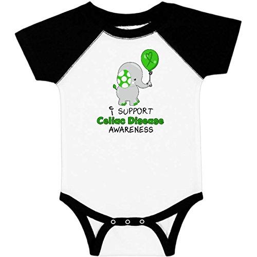 inktastic Celiac Disease Infant Creeper 18 Months White & Black 29e24