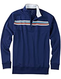 Men's Xh2O Performance Chest Stripe Pullover Golf Jacket